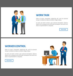 Work task and worker control boss give instruction vector