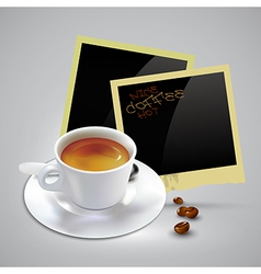 Coffee document template vector image vector image