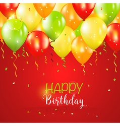 Happy Birthday and Party Balloon Invitation Card vector image vector image