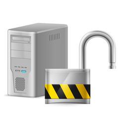 Open padlock - computer security concept of vector