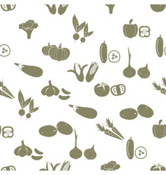 simple vegetables icons seamless white pattern vector image