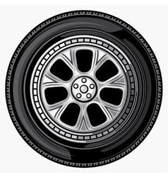 Wheel-tyre vector image