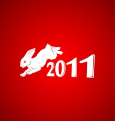 year of the rabbit 3 vector image vector image
