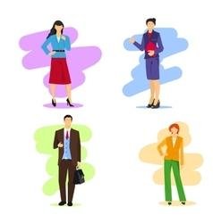 Business women and men vector image