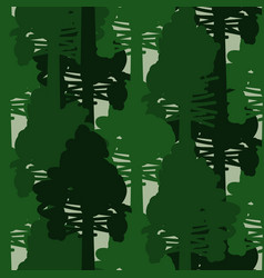camo forest green seamless pattern vector image vector image