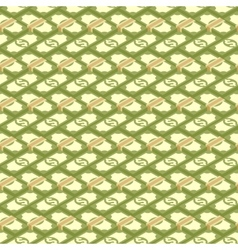 Seamless money pattern vector image