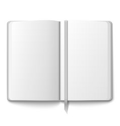 Blank copybook template with bookmark vector