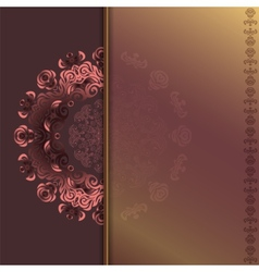 card with abstract roses pattern vector image vector image