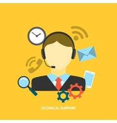 Technical Support Concept vector image