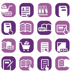 color books icons set vector image