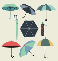 fashion umbrellas in flat style vector image vector image