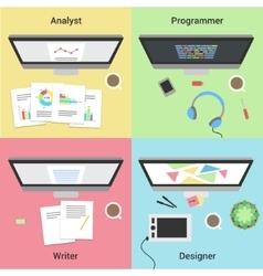 Freelance infographic Working with laptop Web vector image