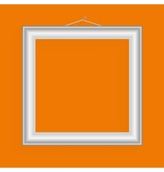 realistic frame for your artwork or photos vector image vector image