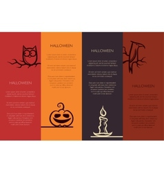 retro graphical templates with Halloween element vector image vector image