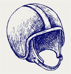 Retro helmet vector image