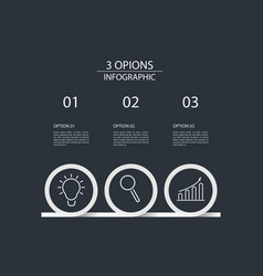 3 steps infographic design template circle style vector image