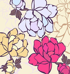 A background in flowers vector