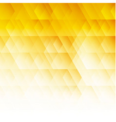 Abstract geometric hexagon pattern yellow vector