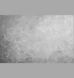 abstract polygonal gray background triangular vector image