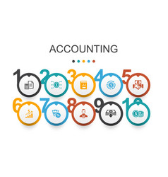 Accounting infographic design templateasset vector