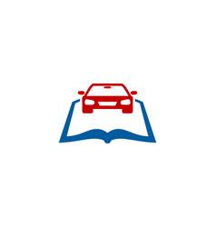 automotive book logo icon design vector image
