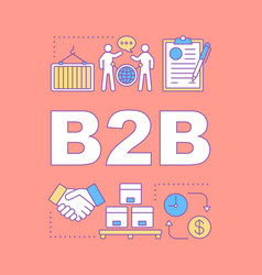 B2b word concepts banner vector