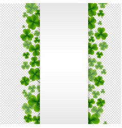 Banner with clovers transparent background vector