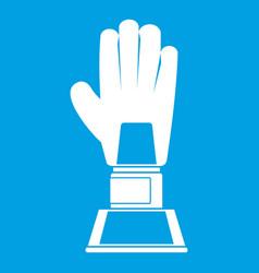 Baseball glove award icon white vector