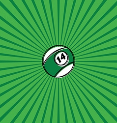 billiard ball sketch doodle vector image