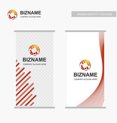 Business banners ads design with logo and vector