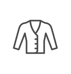 cardigan line icon vector image