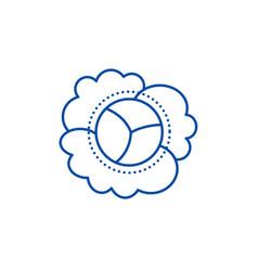 cauliflower line icon concept cauliflower flat vector image