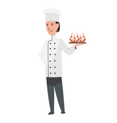 character cook profession men worker occupation vector image