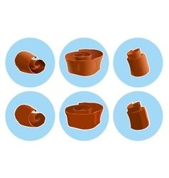 Chocolate shavings icon vector