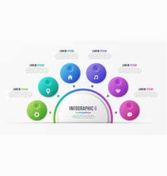 Circle chart template with 6 options vector