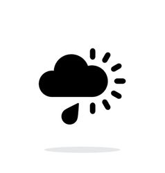 Cloudy with rain weather icon on white background vector image