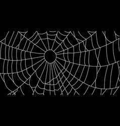 Cobweb isolated on black background spiderweb vector