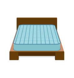 Comfortable mattress for sleeping on the bed vector