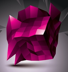 Complicated abstract purple 3D shape digital vector