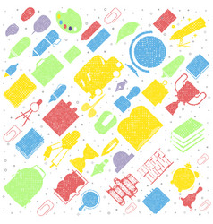 concept education seamless pattern school vector image
