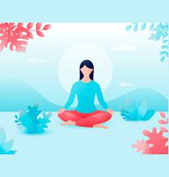 Concept meditation health benefits vector
