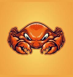 crab cartoon character vector image