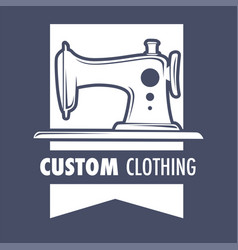 Custom clothing sewing machine design of new vector