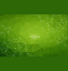 Dark green background with bubbles lines design vector