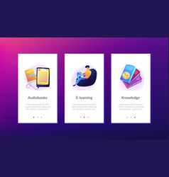 ebook app interface template vector image