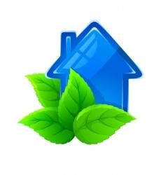 Ecological house vector