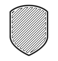 emblem in monochrome contour and striped vector image