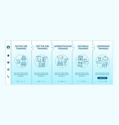 employee development methods onboarding template vector image