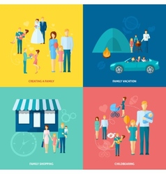 Family Concept Set vector