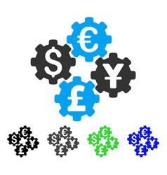 Financial gears flat icon vector